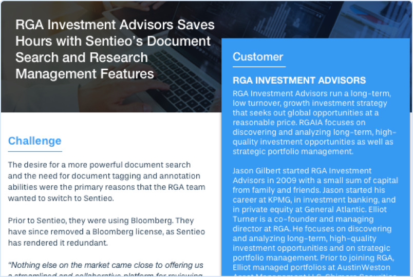 RGA Customer Story